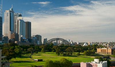 Utsikt över stan från Bayview boulevard hotel
