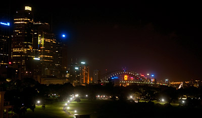 Harbour view, Utsikt från Bayview boulevard hotel, Sydney