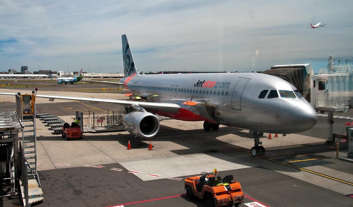 Jetstar flyg på Sydney flygplats