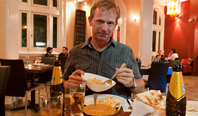 Lasse på Sitar indian restaurant