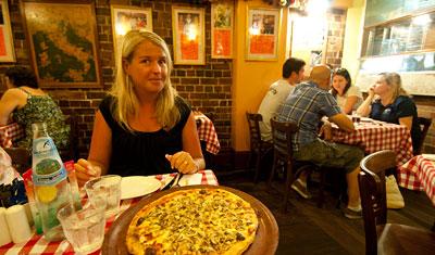Anki på Zia Pina Pizzeria