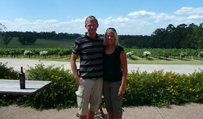 Lasse & Anki, Iron Gate Estate, Hunter Valley Wines Pty Ltd