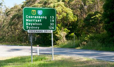 Bussresa tillbaka mot Sydney