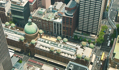 Views from Sydney Tower, Victoria Building