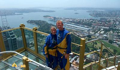 Anki & Lasse på Skywalk
