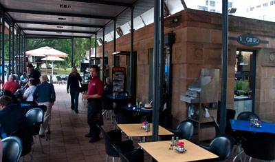 Frukost på café Quattro i Hyde Park