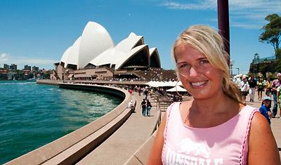 Anki vid Sydney Opera House