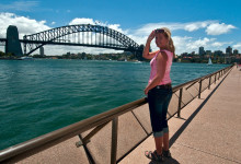 Anki vid Harbour Bridge