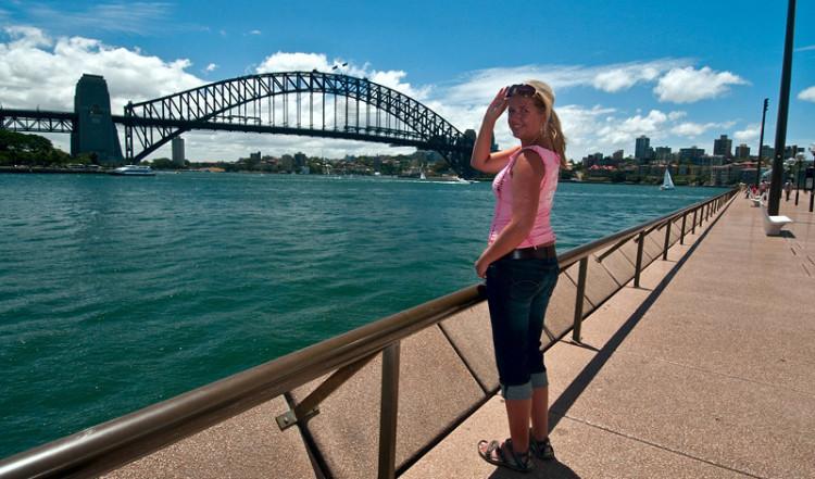 Anki vid Harbour Bridge