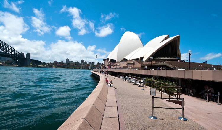 Sydney operahus och Sydney harbour