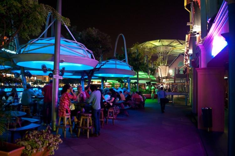 Kväll vid Clarke Quay, Singapore