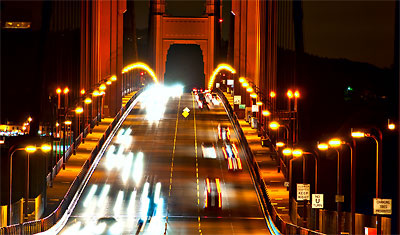 Golden Gate by night, San Francisco