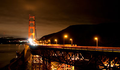 Golden Gate Bridge by night, San Francisco