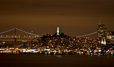 Skyline by night, San Francisco
