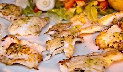 Fiskrätt, Restaurang Aguilar, Estepona