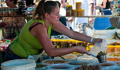 Marknad i Sabinillas, Manilva