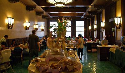 Frukostbuffet på Hotel Atlantico, Rom