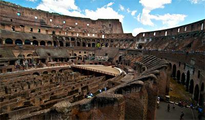 Från västra sidan av Colosseum, Rom