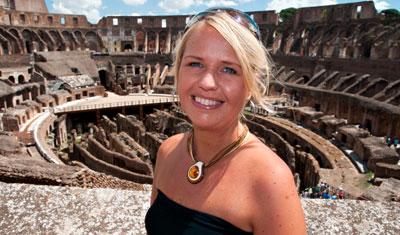Anki på Colosseum, Rom