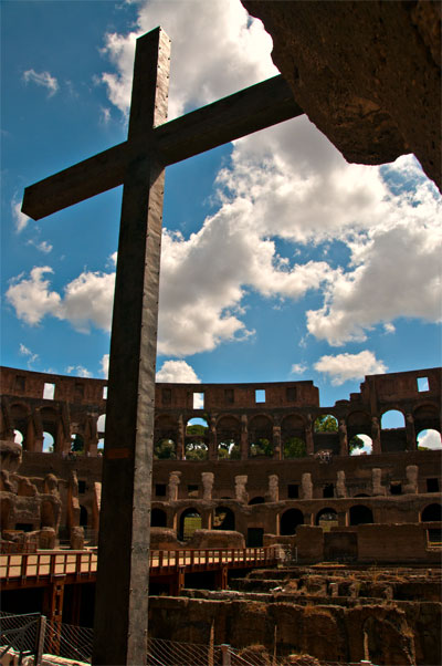 Inne på Colosseum, Rom
