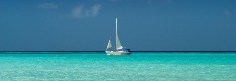 Aruba sailboat by Eagle Beach