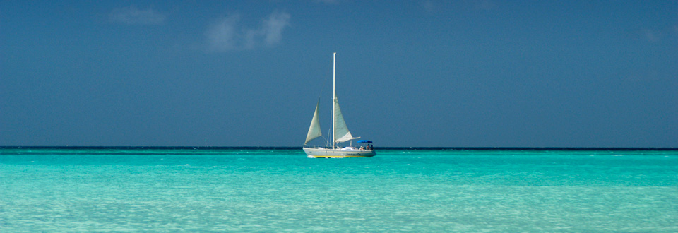 Aruba sailboat by Eagle Beach