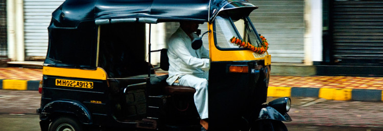 Rickshaw in Mumbai, India