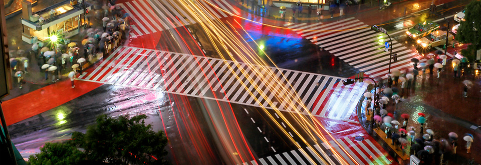 Lights of Shibuya in Tokyo, Japan