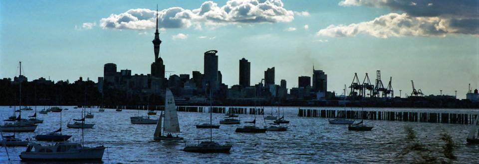 Auckland skyline, Nya Zeeland