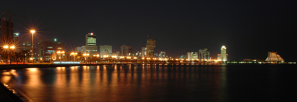 Doha City by night, Qatar