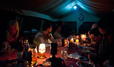 Middag på JK Mara Camp, Kenya