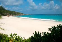 Petite Anse stranden på La Digue, Seychellerna