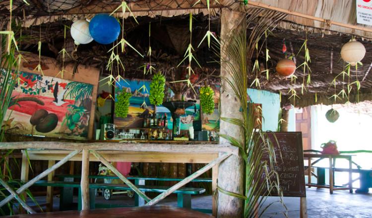 Loutier Coco Restaurant på La Digue, Seychellerna