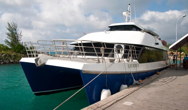 Färja från La Digue Seychellerna