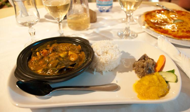 Middag på Chez Marston, La Digue Seychellerna