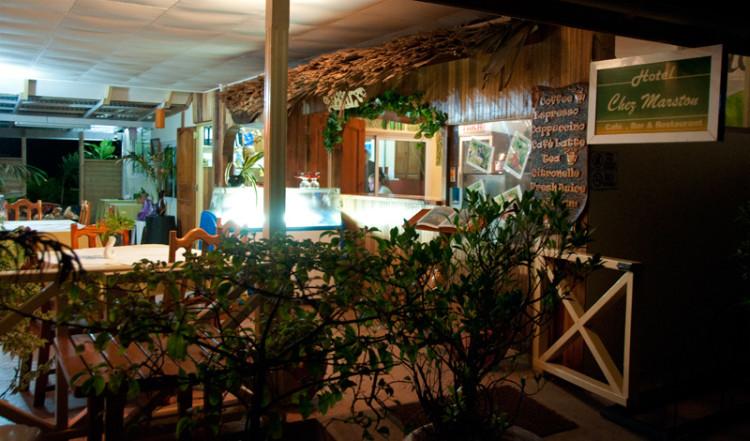 Entré till Chez Marston, La Digue Seychellerna