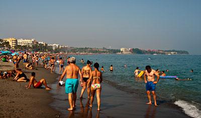 Kvällssol på stranden, Estepona