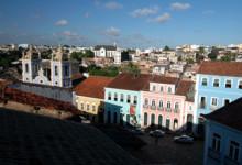 Utsikt över torget Largo do Pelourinho Salvador