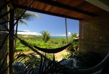 Utsikten från vår veranda på Pousada Mar a Vista, Trancoso