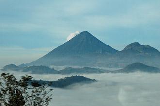 Utsikt från bussresa på höga höjder i Guatemala