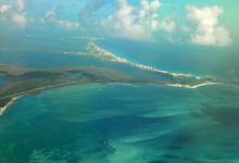 Flygvy över Cancún, Mexiko