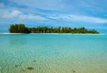 Vacker vy från Muri Beach på Rarotonga