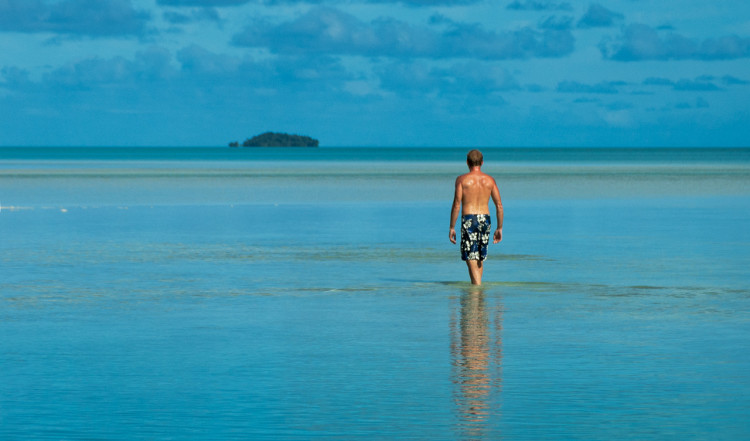 Strand på Aitutaki