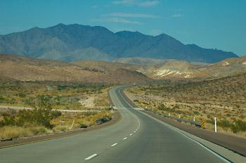 På väg mot Arizona och Grand Canyon