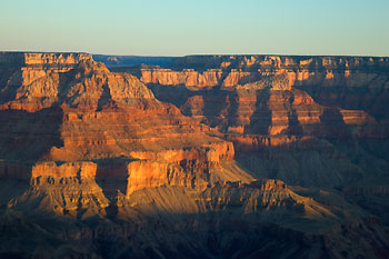 Soluppgång vid Grand Canyon