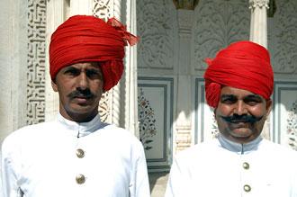 Vakter vid City Palace, Jaipur