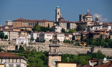 Utsikt från Mercure hotel, Bergamo