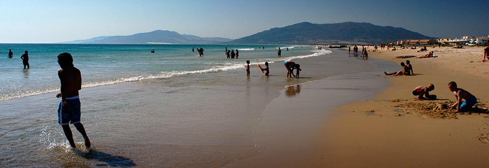 Tarifa strand, Spanien
