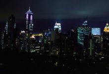 Utsikt från hotellrum i Hong Kong