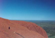 Utsikt underklättring, Ayers Rock